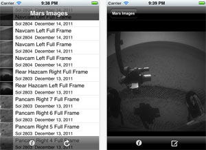 Mars Images iPhone app